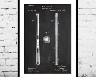 Baseball Bat Patent, Baseball Bat Poster, Baseball Bat decor,Baseball Print, Baseball Art, Baseball Print p905