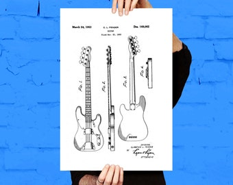 Fender Bass Guitar Poster,Fender Bass Guitar Patent,Fender Bass Guitar Decor, Fender Bass Guitar Print, Fender Bass Guitar Blueprint p771