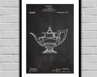 Tea Pot Patent Tea Pot Poster Tea Pot Blueprint Tea Pot Print Tea Pot Art Tea Pot Decor Gifts for Tea Drinkers p1056