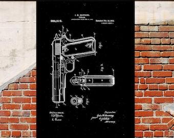 Colt 45 Poster Colt 45 Patent Colt 45 Print Colt 45 Art Colt 45 Blueprint Colt 45 Wall Art Colt 45 Decor Gun patent print p1252