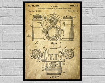 Camera Poster Vintage Camera Patent Vintage Camera Print Vintage Camera Vintage Camera Decor Vintage Camera Blueprint Camera p065