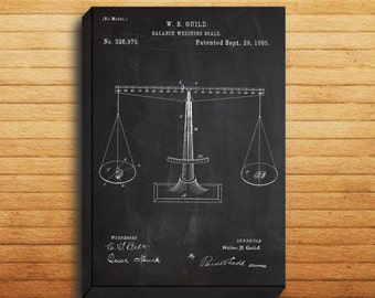 CANVAS  Scales of Justice Art Scales of Justice Print Scales of Justice Patent Scales of Justice Poster Lawyer Gift p257