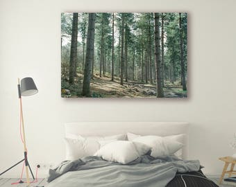 Nature Print Large Wall Art Print Thick Forest Fine Art Photography Print Nature Photography Neutral Wall Decor Mountain Forest
