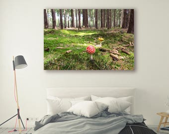 Mossy Forest Photography mushroom in Forest Tree Art Landscape Nature Photography Home Decor Tree Photo Wall Decor mushroom PH038