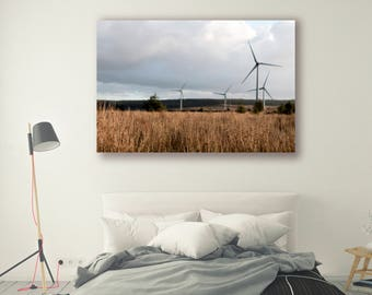 Nature Photography canvas art framed print prints Home Decor Industrial Photography Agriculture Modern Art Wall Decor Wind Turbine TreePH078