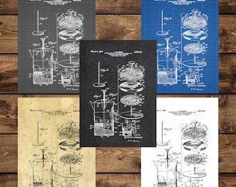 INSTANT DOWNLOAD - Coffee Brewer Patent, Coffee Brewer Patent Poster, Coffee Brewer, Coffee Decor, Kitchen Decor, Home Decor, Vintage Decor