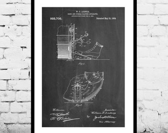 Ludwig Drum and Cymbal Patent, Ludwig Drum and Cymbal Poster, Ludwig Drum and Cymbal Print, Ludwig Drum and Cymbal Art, Drum Art p837