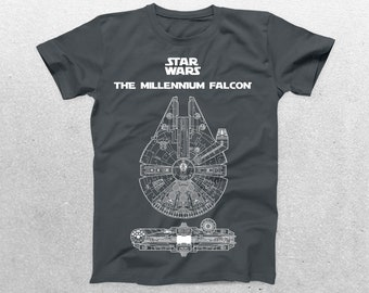 Star Wars Millenium Falcon Patent T-Shirt, Millenium Falcon Blueprint, Star Wars T-Shirt, Star Wars Gifts, p1414