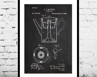 Coffee Pot Patent Coffee Pot Poster Coffee Pot Print Coffee Pot Art Coffee Pot Decor Coffee Pot Blueprint Coffee Pot Wall Art p501