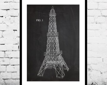 Eiffel Tower Patent Eiffel Tower Poster Eiffel Tower Blueprint  Eiffel Tower Print Eiffel Tower Art Eiffel Tower Decor p534