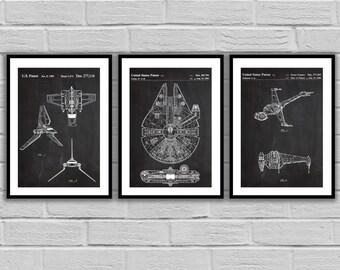 Star Wars patent  Star Wars Poster Millennium Falcon Star Wars Patent Millennium Falcon Star Wars Print Millennium Falcon patent Sp532