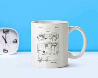 Willy's Jeep patent mug  coffee mug  coffee lover  patent art  patent mug  Army Decor Military Decor Soldier Gift MilitaryM188
