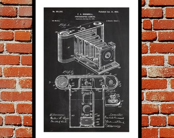Kodak Camera Print Kodak Camera Patent Kodak Camera Poster Kodak Camera Art Kodak Camera Decor p184