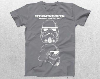 Stormtrooper Imperial Issue Helmet Patent T-Shirt, Stormtrooper Blueprint, Star Wars T-Shirt, Star Wars Gifts, p1434