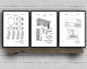 Ice Hockey Patent Poster Group of 3, Hockey puck, Hockey net, Zamboni, Hockey Puck, Hockey Wall Art, Hockey wall decor, NHL fan art SP02
