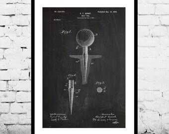 Golf Tee Print, Golf Tee Poster, Golf Tee Art, Golf Tee Patent, Golf Tee Decor, Golf Tee Blueprint, Golf Tee Wall Art SP142