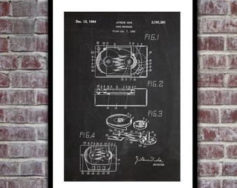 Tape Recorder Patent, Tape Recorder Poster, Tape Recorder Blueprint, Tape Recorder Print, Tape Recorder Art, Tape Recorder Decor p881