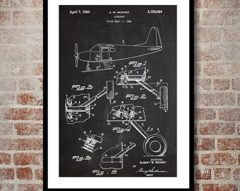 Mooney Airplane Decor Airplane Art Airplane Print Aviation Decor Airplane Patent Aviation Art Aviation Art Pilot Gift p408