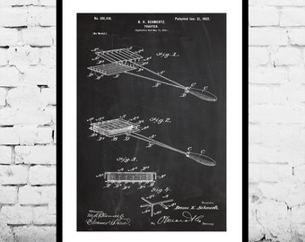 Toaster Patent Toaster Poster Toaster Blueprint  Toaster Print Toaster Art Toaster Decor p300