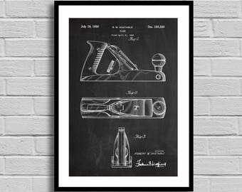 Wood Planer patent Patent Prints Wall Decor Bench Wood Planes Patent Poster Tool Art Unique Gifts for Dad Wall Decor Woodworking p673