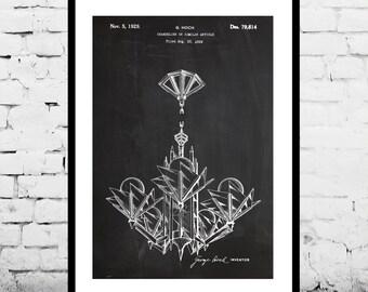 Chandelier Patent Chandelier Poster Chandelier Print Chandelier Art Chandelier Decor Chandelier Blueprint p981
