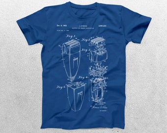 Electric Shaver Patent T-Shirt, Shaving Blueprint, Patent Print T-Shirt, Barber T-Shirt, Fathers Day Gifts, Dad T-Shirts p537