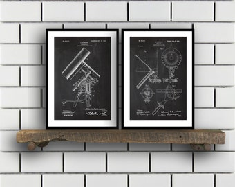 Astronomy Patent Astronomy poster Set of TWO astronomy Invention Patent telescope Poster Astronomy Print Sun Dial Inventions SP232
