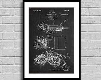 Hair Clipper Patent Hair Clipper Patent Poster Hair Clipper Blueprint Hair Clipper Print Oster Hair Clipper Stylist Gift Barber Gift p594