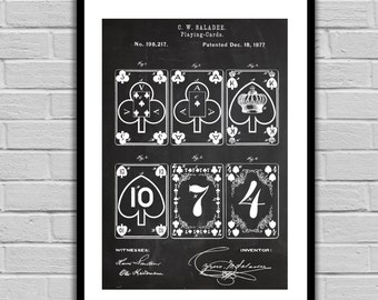 Playing Cards Patent, Playing Cards Poster, Playing Cards Blueprint, Playing Cards Print, Playing Cards Art, Playing Cards Decor p237