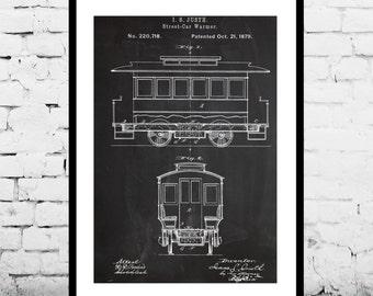 Streetcar Poster, Streetcar Patent, Streetcar Print, Streetcar Art, Streetcar Decor, Streetcar Wall Art, Streetcar, San Francisco, p1164