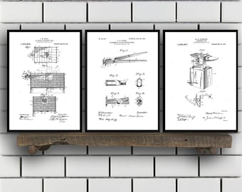 Blacksmith Patent Prints, Blacksmith Set of THREE, Blacksmith Invention Patent, Blacksmith Poster, Blacksmith Print, Blacksmith SP259