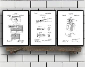 Blacksmith Patent Prints, Blacksmith Set of THREE, Blacksmith Invention Patent, Blacksmith Poster, Blacksmith Print, Blacksmith SP259