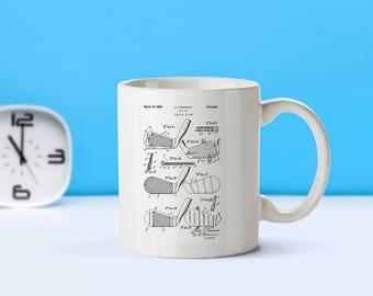Golf Clubs patent mug  coffee mug  coffee lover  patent art  patent mug  Sports Decor Golf Decor Gifts for HimVintageGolfingM260
