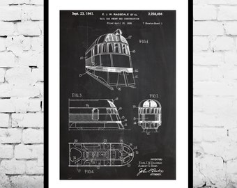 Zephyr Train Poster, Train Print, Zephyr Train Art, Zephyr Train Blueprint, Zephyr Train Wall Art, Train Art p1397