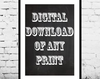 Digital Download of any Patent Print in My Shop, Print Download, Print this at home or at a local print shop, Print from home, save money