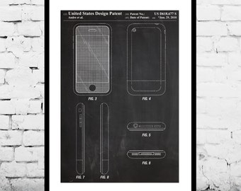 iPhone Patent iPhone Poster iPhone Print iPhone Art iPhone iPhone Blueprint iPhone Wall Art Smart Phone p625