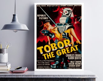 MOVIE poster vintage Tobor The Great Classic Horror space poster Poster Art Vintage Print Art Home Decor movie poster Robot Halloween sp622