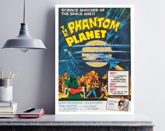 MOVIE poster vintage The Phantom Planet Classic Horror space poster Poster Art Vintage Print Art Home Decor movie poster Sci Fi Decor sp643