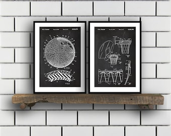 Basketball Patent Basketball poster Set of TWO Basketball Invention Patent Basketball Poster Basketball  Basketball Inventions SP242