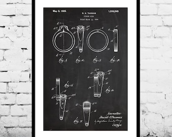 Engagement Ring Patent Engagement Ring Poster Engagement Ring Blueprint  Engagement Ring Print Engagement Ring Art Wedding Decor p539