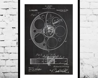 Film Reel Print Film Reel Poster Film Reel Patent Film Reel Wall Art Film Reel Wall Decor Film Reel Art Film Reel Blueprint p112