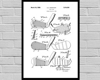 Golf Club, Golf Related Patent, Golf Invention Patent, Golf Poster, Golf Club Print, Golf Patent, Golf Inventions SP143