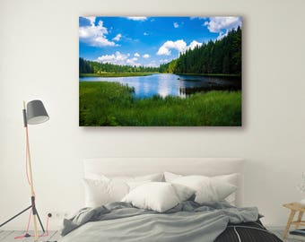 Lakeside Mountain Photography Wall Art Print Lake life Mountain Wall Decor Mountain Print Mountains reflection Nature PhotoArt PH029