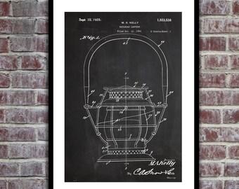 Railroad Lantern Patent Railroad Lantern Poster Railroad Lantern Blueprint Railroad Lantern Print Railroad Lantern Decor p664