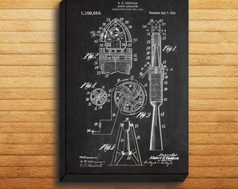 CANVAS  First Space Rocket Art First Rocket Print First Rocket Poster First Rocket Patent First Rocket Blueprint Astronaut Decor p121