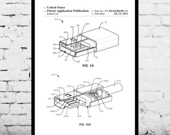 USB Drive Patent, USB Drive Poster, USB Drive Print, Flash Drive Art, Flash Drive Decor, Flash Drive Blueprint p1172