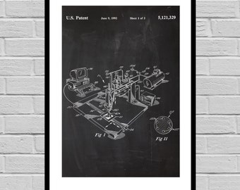 3D Printer Patent Art 3D Printer Poster 3D Printer Patent 3D Printer Print 3D Printer Original invention Inventions p443