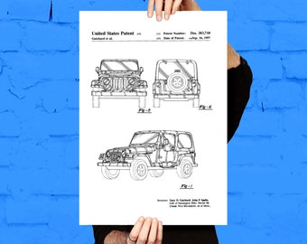 Jeep Art Poster, Jeep Patent, Jeep Print, Jeep Art, Jeep Decor, Jeep Wall Art, Jeep Blueprint Copy p1127