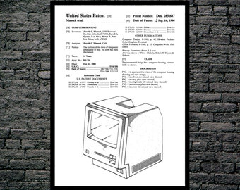 Apple Computer Patent Apple Computer Poster First Apple Computer Print First Apple Computer Art Apple Computer p902