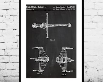 Star wars B Wing Star Wars Poster B Wing Star Wars Patent B Wing Star Wars Print B Wing Star Wars Art B Wing Star Wars p929